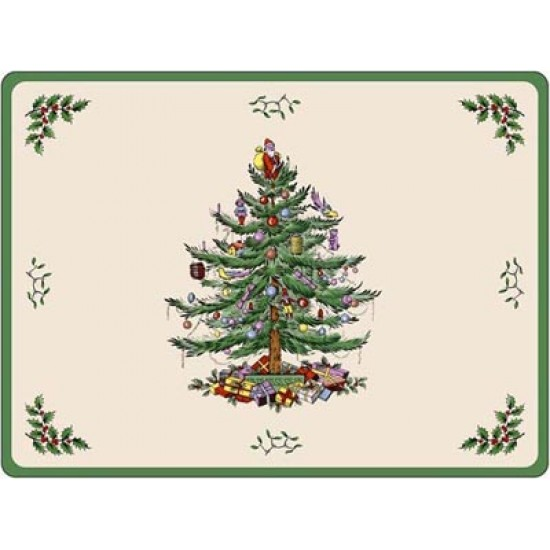 Spode Christmas Tree.Spode Christmas Tree Placemats 30 5x23cm Set Of 6